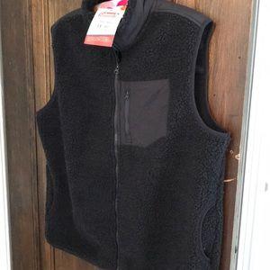 Coleman Sherpa vest for men NWT charcoal black